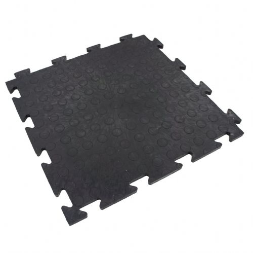 Recycled PVC Interlocking Floor Tiles (Black CoinTop)